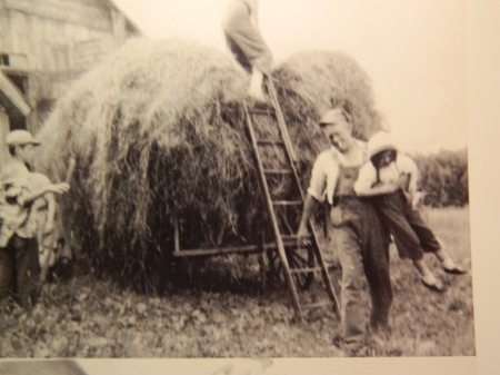 Uncle Bob gives Candy a lift following a hayride on the Bennett Family Farm in New Hampshire.