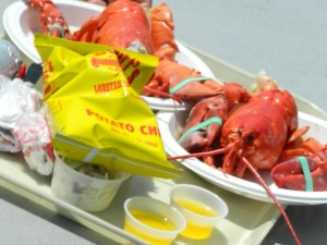 "who could pass up ""steamed and scculent"" lobster dinners at Abbott's in Noank, CT?"
