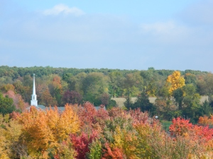 Photo by Jacqueline Bennett From a Connecticut hilltop in the City of Village Charm, Manchestr, CT. (October, 2014).