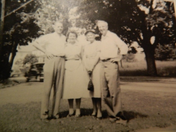 Aunt Jessie, (second from left) with her husband Uncle Dick Tracy and Gram and Uncle Frank.