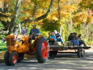 Colorful hayride in Eastford, Conn. - photo by JB.
