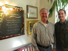 Chef/owner Kevin Haggerty shown with his son Bryan.