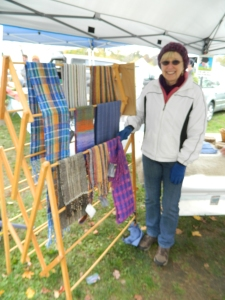 Linda Daly owner of coventry-based Purple Meadow Weaver.