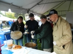 Len Swade and company at the Windsor Democrats booth scooped out a cup of chili for Gov. Dannel Malloy.