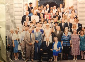 surrounded by family, Mary and Al (seated) celebrated their 50th wedding anniversary.