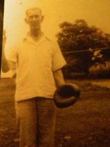 "Even in his golden years, ""Pa"" Henry Generous, Sr. often had his baseball mitt in hand."