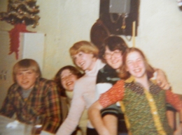 Johnny, Deb, Jackie (me), Maureen and Jillian at one of the many New Year's Eve Open Houses hosted by my brother John and sister-in-law Jane.