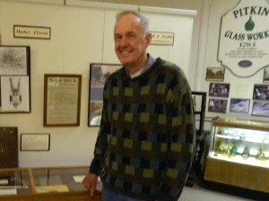 David K. Smith. curator of the Manchester Historical Society showed visitors around the Old Manchester Museum.