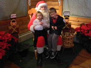 Braelyn and Landon of East Hartford came to see Santa Claus.