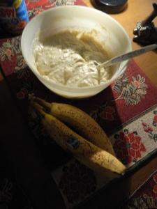 Banana Bread batter.