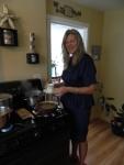Melane preparing the garvy.