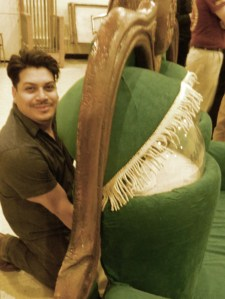 UConn student Kalob Martinez spent the past two weeks building this couch puppet.