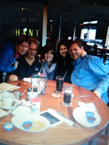 Katie, Glen Jr., Deb, Sofia and Wayne at Red Lobster.