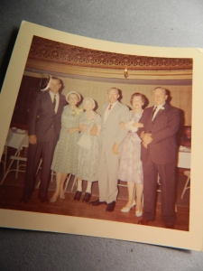 Gram Bennett with Uncle Dick, Aunt June, Dad, Aunt Jay and Uncle Bob.