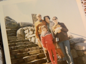 Dad, Mom, Deb and Candy atop Whiteface Mountain in upstate New York.