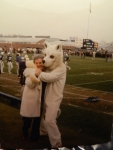 Aunt June and the UConn Husky.