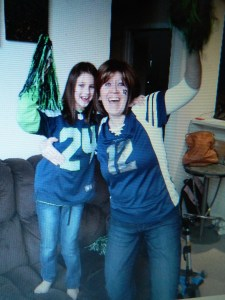 Meanwhile, Sofia and Deb cheered for the Seahawks out in Washington state.