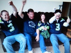 Nate, Wayne, Sof and Danny route on the Seahawks.