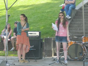 Young poets offered recitations of their work.