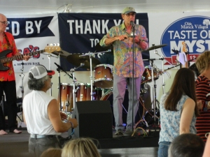 An appreciative audience enjoyed songs of Santana.