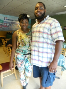 Chris Baker shown with his cousin Toneea Baker, who also grew up in Windsor, Ct and is currently studying public relations at Morgan State college in Baltimore.