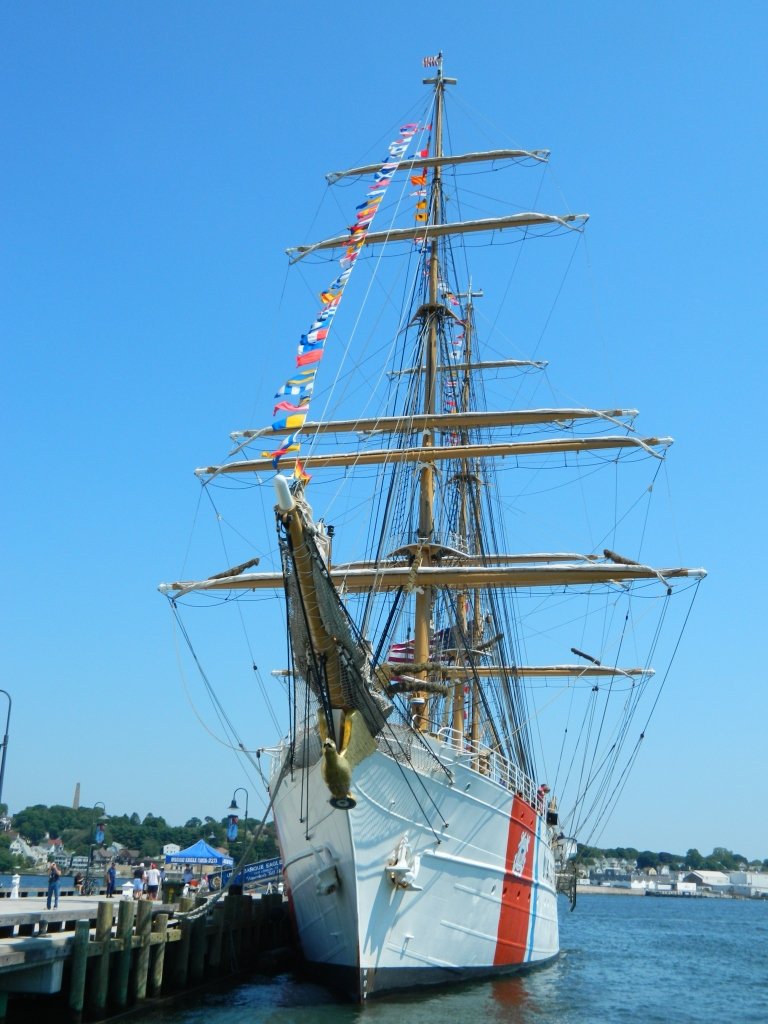 Photo by Jacqueline Bennett Barque Eagle, America's Tallship, New London, Connecticut August 2015.