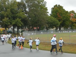"""2015 Color Craze"" 5K Run/Walk gets underway at Recreation Park in Willimantic/Windham, Connecticut on October 3."