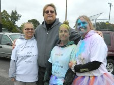 Dave Blay shown with his wife Nancy Blay (left), his neice Cynthia Lovely and his sister Cindy Blay.