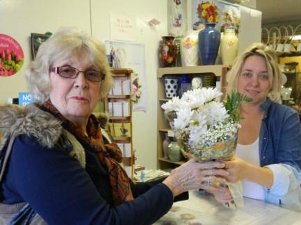 Free 'birthday' daisies for Dixie from Gordon Bonetti Florist.