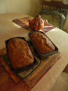 Candy's home made banana breads.