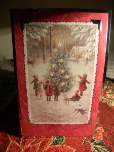 A modern day Christmas card shares the joy of the season.