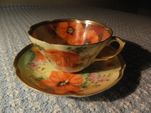 A cherished family heirloom, this tea cup was brought to America by a Bennett Family great-great grandmother on the Reeve side.