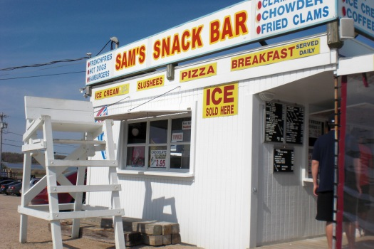 Sam's Snack Bar - starker than before but still standing.