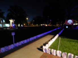 """Walk of Light"" in Windsor, Connecticut September 11, 2016."