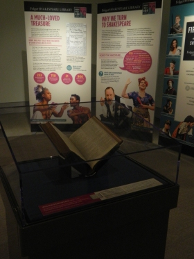 FIRST FOLIO on display at the Benton Museum.
