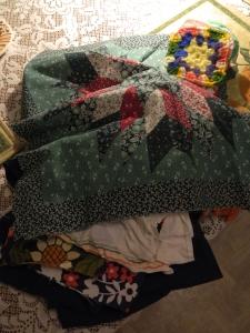 Mom's cloth remnants.