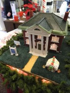 Wood Memorial Library & Museum in gingerbread form!