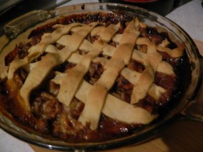 Candy's lattice crust apple pie.