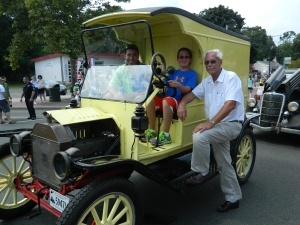 Three generations of the Hoch Family who own and operate shady Glen Dairy Stores - shown at the 2012 Crusin' on Main - Manchester, Connecticut.