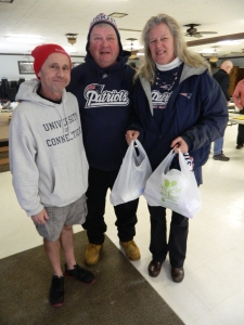 Mike and Melane met a former classmate at the Windham Elks Tom spector, he helped make the grinders for the Bigg Play fundraisers.