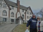 Mike and me outside the Windham Elks.
