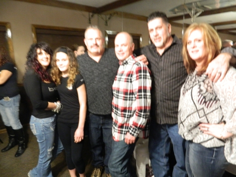 Vesco's family turned out also - his wife Heidi, daughter sadie, brother Mark, cousin Roy McNally and Tonya.